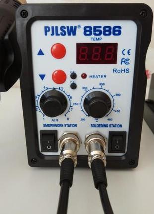 Паяльная станция PJLSW 8586 2 в 1 паяльник фен термовоздушная ...