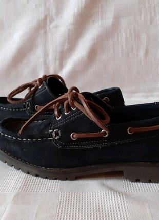 Next кожаные туфли шкіряні туфлі топсайдери р. 39 ст. 25,8 см