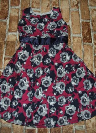 Платье нарядное цветы 6-7 лет