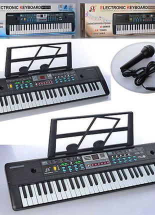 Синтезатор пианино детское MQ022-23UF 61кл, запись, 16тонов, FM,