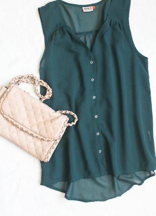 Зеленая блуза от only, размер м