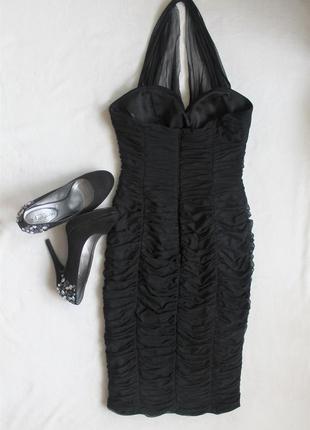 Платье футляр черное на корпоратив, размер s/m