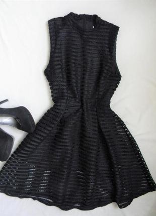 Черное платье сетка, размер м