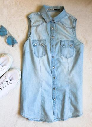 Джинсовая рубашка, размер s