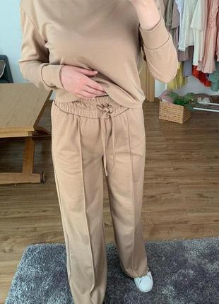Женский костюм карамельного цвета - брюки + кофта м, s