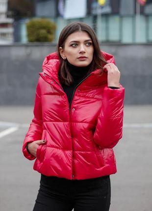 Куртка женская весенняя молодежная с капюшоном весна осень
