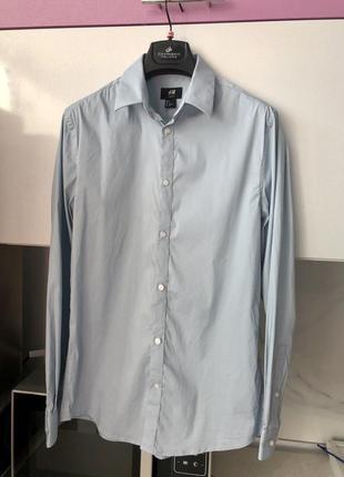 Мужская базовая приталенная рубашка с
