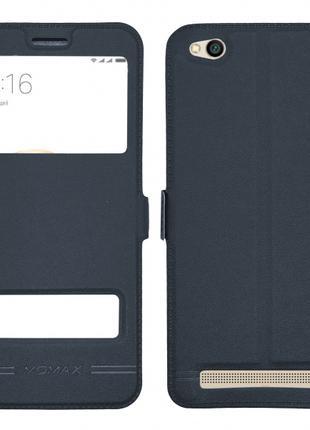 Чехол книжка Momax Xiaomi Redmi 5a обложка 2 окна серая