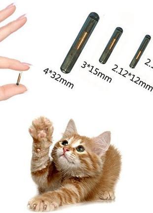 Микрочип для животных с аппликатором 2.12x12 и 1.4x8mm