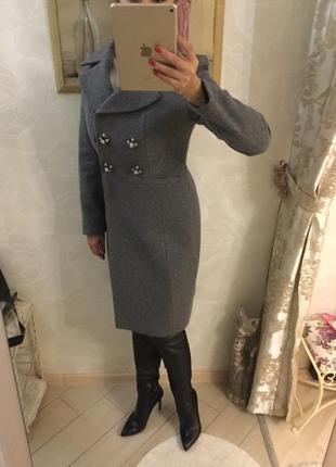 Пальто шерстяное, женское размер 44