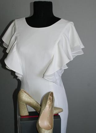 Облегающее платье с открытой спиной, рукава-воланы, mohito, но...