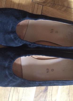 Немецкие замшевые туфли gabor 40-41 (26.5-27-9)