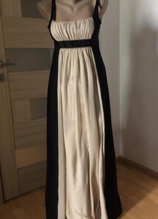 Bcbgmaxazria роскошное вечернее платье шёлк