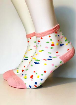 Яркие прозрачные носочки-чулочки.