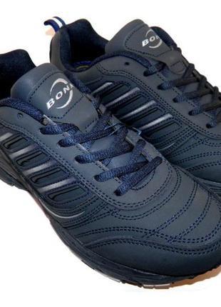 Кожаные мужские кроссовки bona