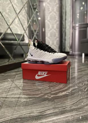 Мужские кроссовки nike lebrone 15 white black
