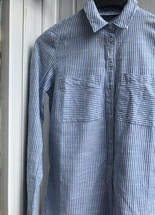 Стильная женская рубашка 36 (s) new look 100% хлопок зима/весна/л