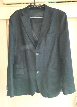 Мужской льняной летний пиджак 50-52 р
