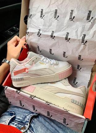 Puma cali sport mix white grey pink
