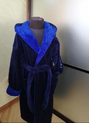 Детский махровый халат 12-14лет, пр-во турция, в наличии расцв...