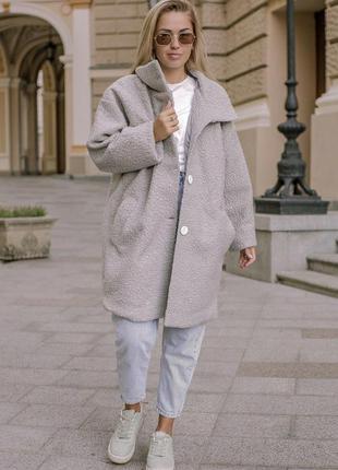 Пальто демисезонное женское барашек