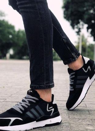 Кроссовки Adidas Nite Jogger Boost черные кроссовки Адидас