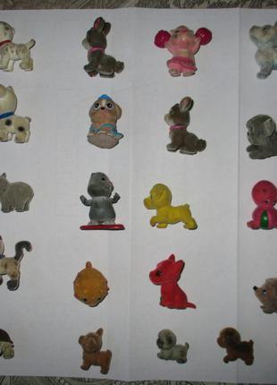 флоковые бархатные фигурки животных