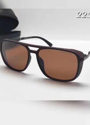 Мужские очки porshe коричневая линза с поляризацией в матовой ...