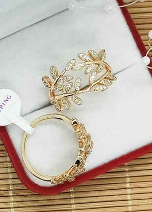 Кольцо xuping, позолота, размер 17