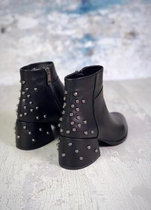 Осень натуральная кожа люксовые ботинки с заклепками на удобно...