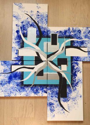 Модульная картина (5 частей) Акрил Абстракция Selen