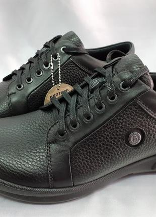 Осенние комфортные туфли,полуботинки кожаные bertoni 40-45р.