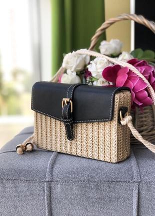 Сумка сумочка соломенная клатч
