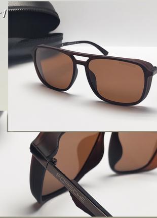 Мужские очки коричневые с  поляризацией