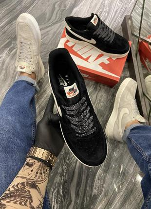 Кроссовки nike force luxury suede black