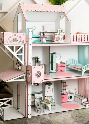Кукольный домик для барби. Домик с лифтом.