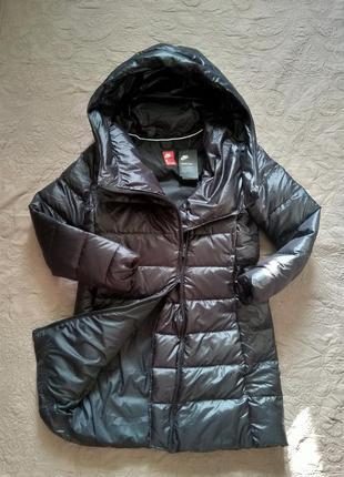 Новая парка nike xs-s, l. пуховик куртка чёрная пух 75% найк о...