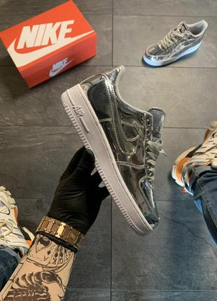 Кроссовки Nike Nike Air Force Low Silver .