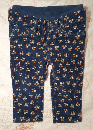 Вельветовые штаны брюки baby gap 6 9 12 мес