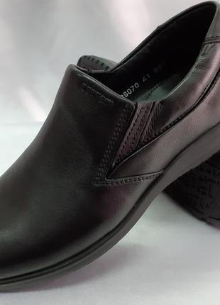 Комфортные кожаные осенние-весенние туфли bertoni 40-45р.