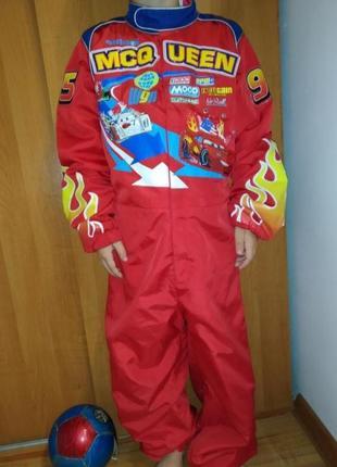 Карнавальный костюм комбенизон гонщика молния маквин