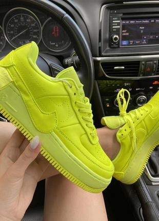 Кроссовки Nike Air Force 1 Low Jester Neon Green.
