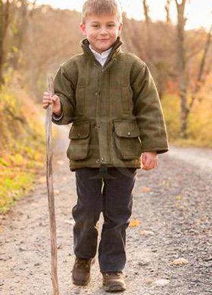 Охотничья твидовая куртка game (6-7 лет) покрытие тефлон.
