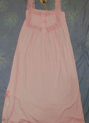 Ночная рубашка ночнушка хлопок коттон кружевная длинная 46 48