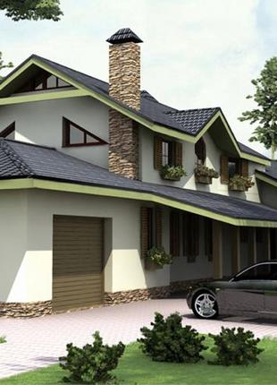 Архитектурный проект дома «Фазенда» от киевского архитектурного б