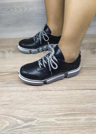 Кожаные кроссовки , 36 ,38 - 39 ,40 размера , натуральная кожа...