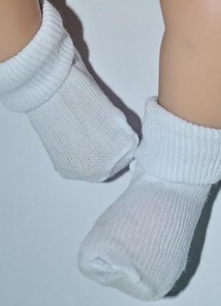 Носочки белые для новорожденных