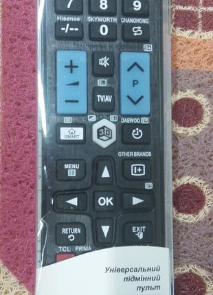 Пульт ДУ универсальный Smart TV Samsung LG Sony Sharp Toshiba