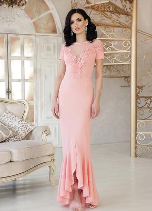 Платье вечернее нарядное длинное