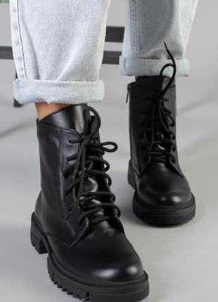 Женские ботинки на платформе шнуровка